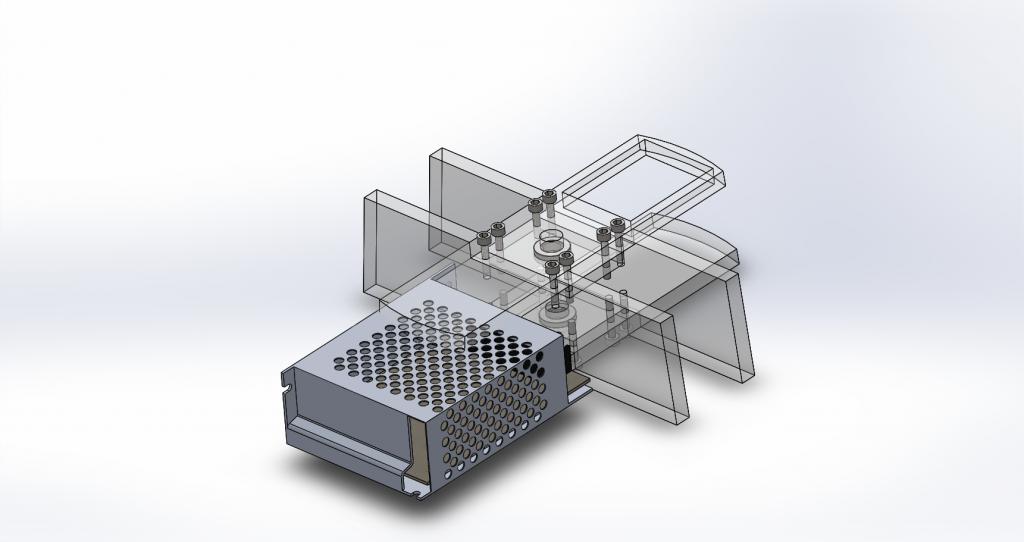 Assembly Base Powersupply 3D