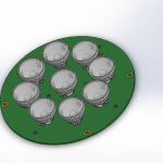 Assembly PCB with LEDs 3D