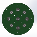 Assembly PCB with LEDs Bottom