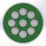Assembly PCB with LEDs Top