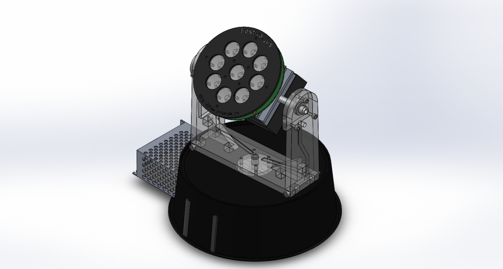 Assembly Spotlight With Chassi 3D 1