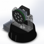 Assembly Spotlight With Chassi 3D 2
