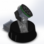Assembly Spotlight With Chassi 3D 4