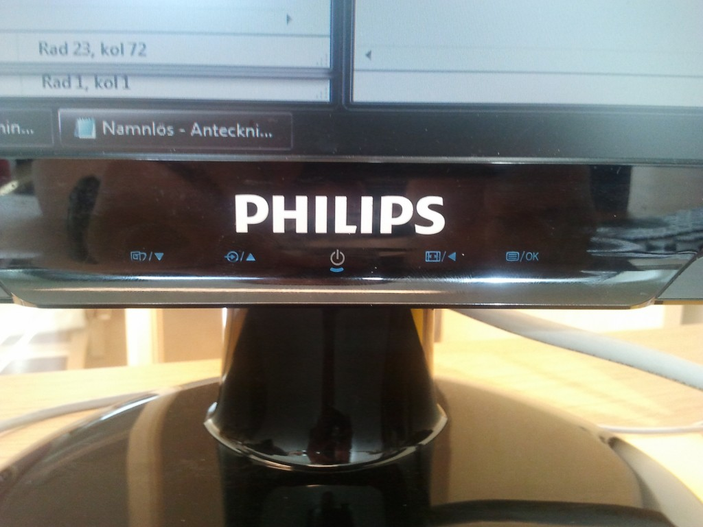 Philips 243E2 Monitor - Touch Buttons